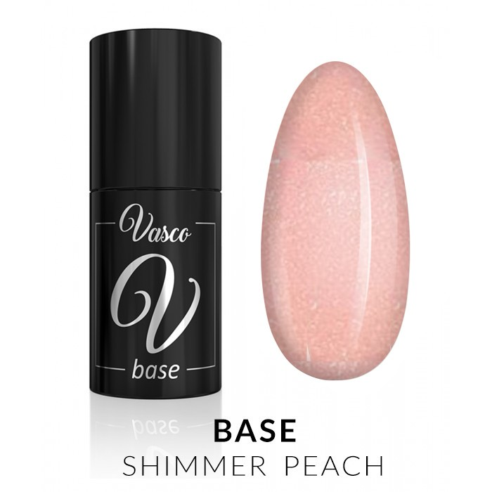 Vasco Base Shimmer Peach 6ml baza trajni lak