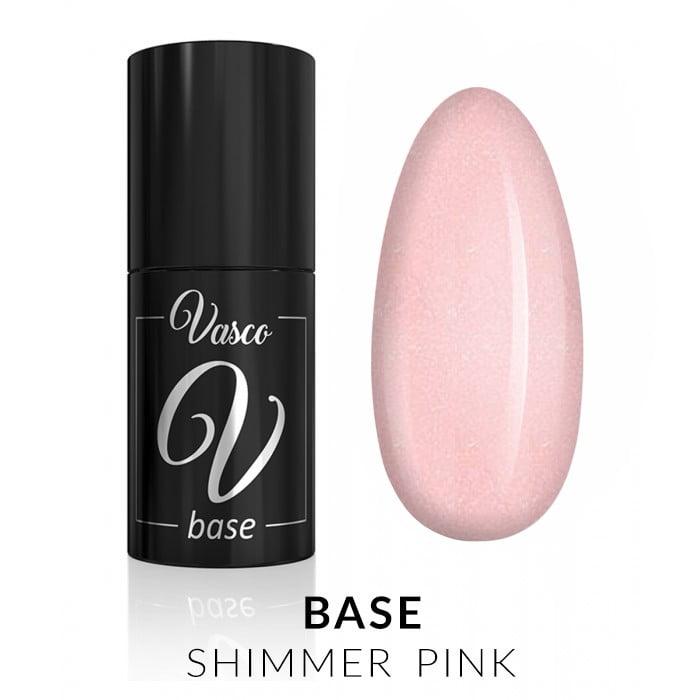 Vasco Base Shimmer Pink 6ml baza trajni lak
